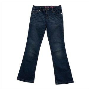 Place Girls Blue Denim Bootcut Flared Jeans Size 8